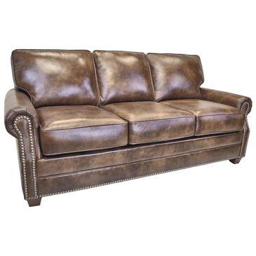 "La Crosse Middleton Queen Sleeper Sofa with 5"" Memory Foam Mattress in Vintage Brown, , large"