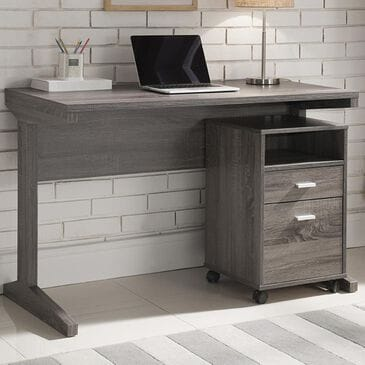 Global Movement Desk and File Cabinet in Distressed Grey, , large