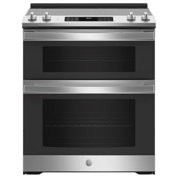 """GE Appliances 30"""" Slide-In Electric Double Oven Range with Convection in Stainless Steel, , large"""