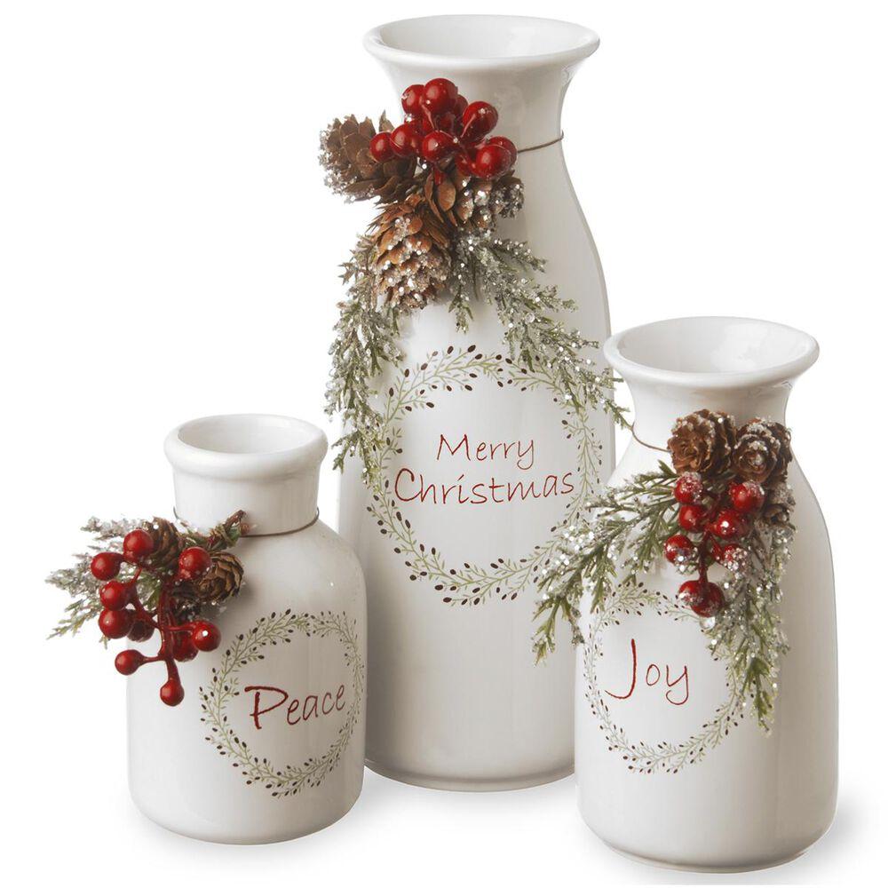 National Tree Holiday Antique Milk Bottles Set, , large