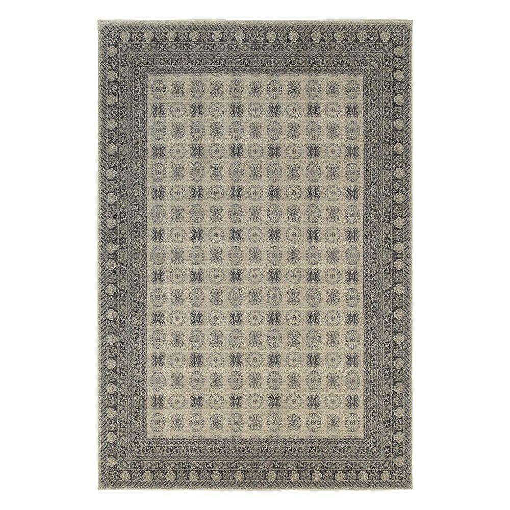 "Oriental Weavers Richmond 4440S 6'7"" x 9'6"" Grey Area Rug, , large"