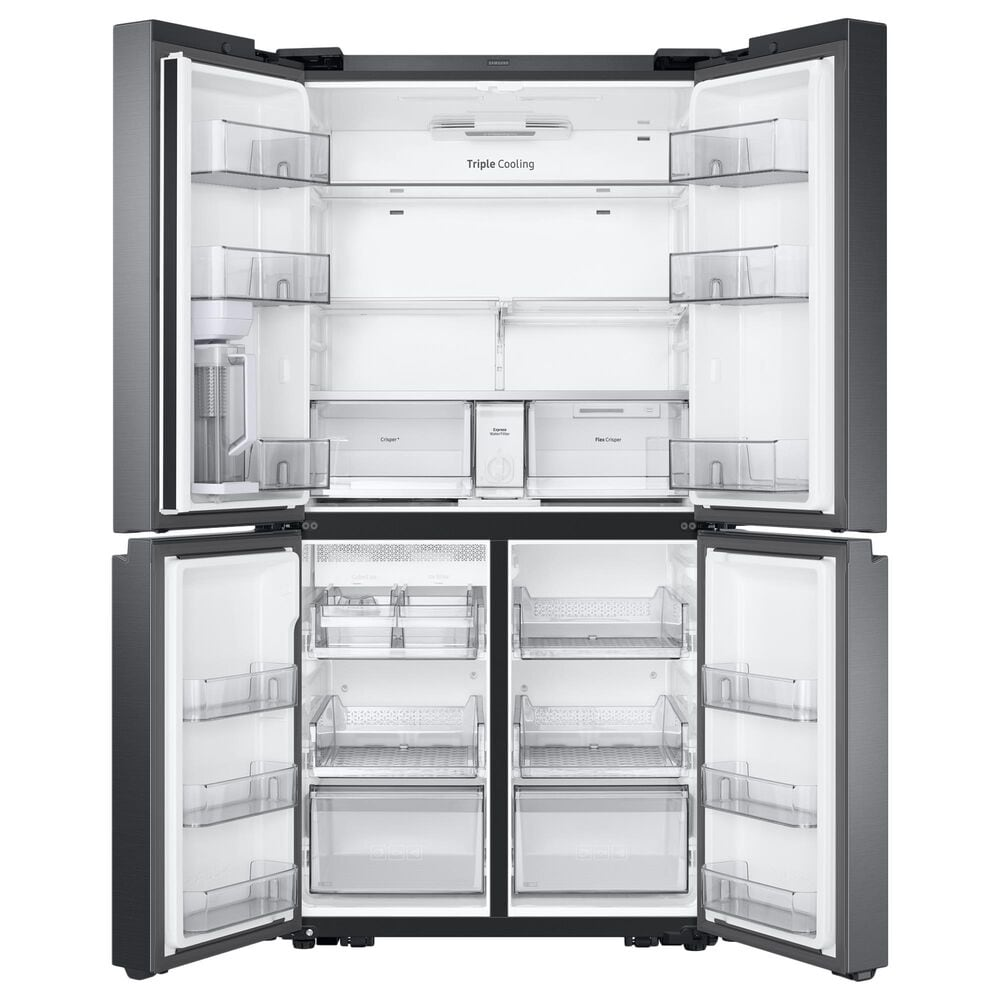 Samsung 29.2 Cu. Ft. 4-Door Flex French Door Refrigerator with Auto Fill Pitcher in Black Stainless Steel, , large