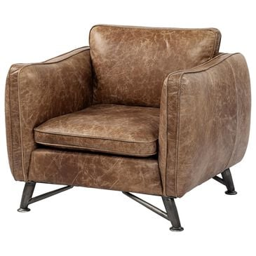 Mercana Cobain II Leather Chair in Brown , , large