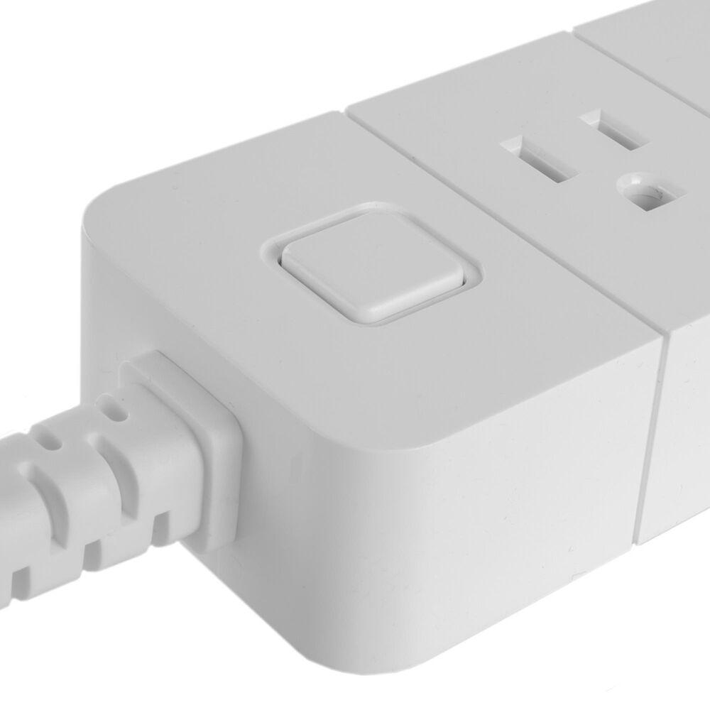 Nexxt Smart Wi-Fi Programmable Power Strip in White, , large