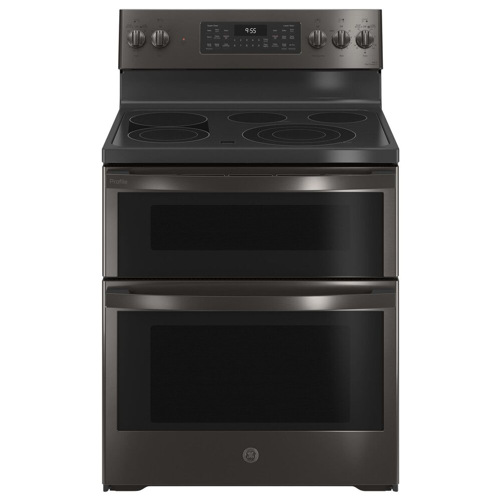 "GE Appliances 30"" Free-Standing Electric Double Oven Convection Range in Black Stainless Steel, , large"