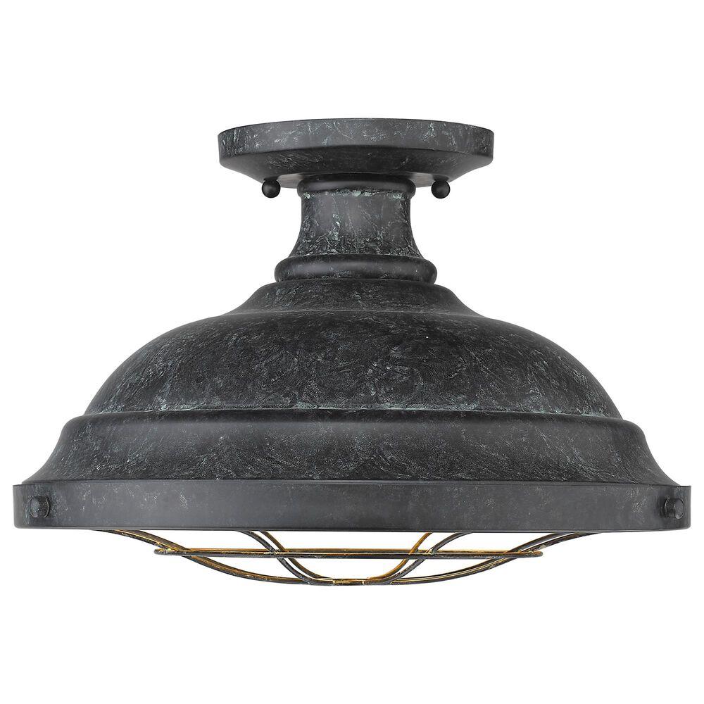 Golden Lighting Bartlett Semi-Flush in Black Patina, , large
