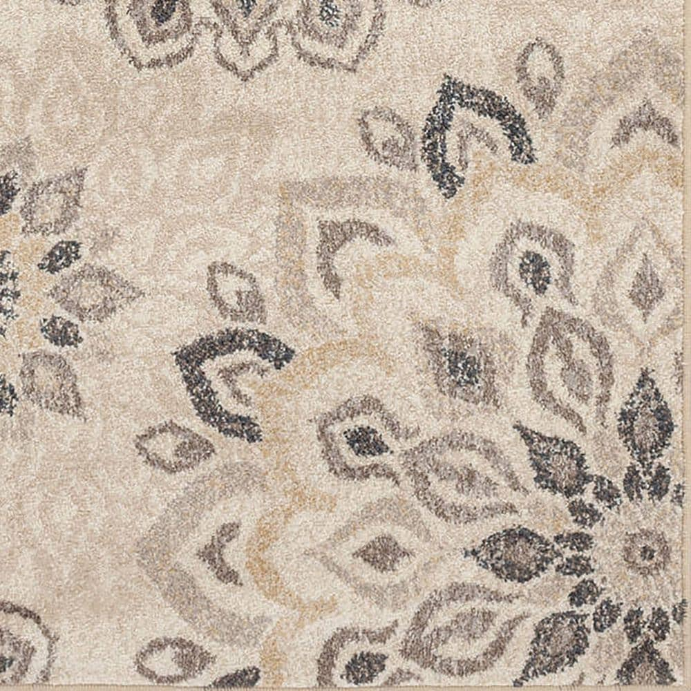 Central Oriental Minerva Asterin 7202ASA 8' x 10' Alabaster and Sand Area Rug, , large