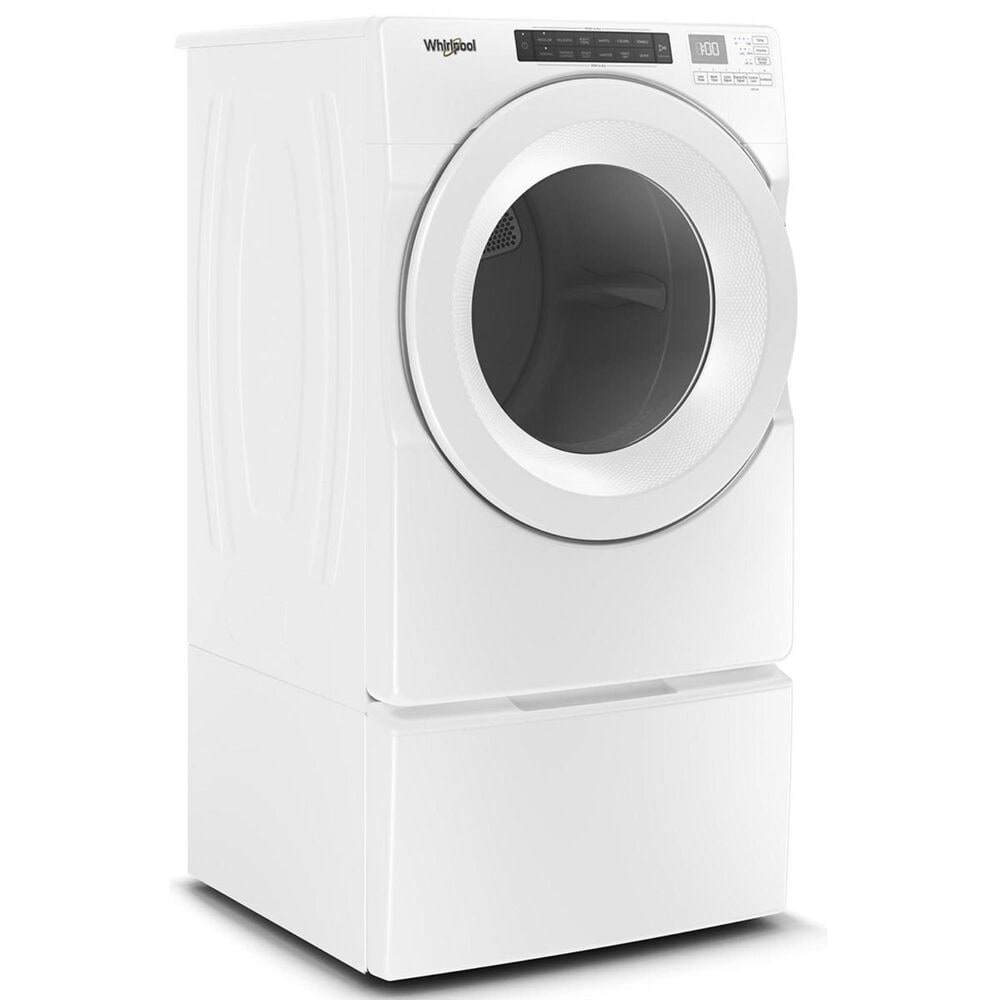 Whirlpool 7.4 Cu. Ft. Front Load Electric Dryer in White, , large