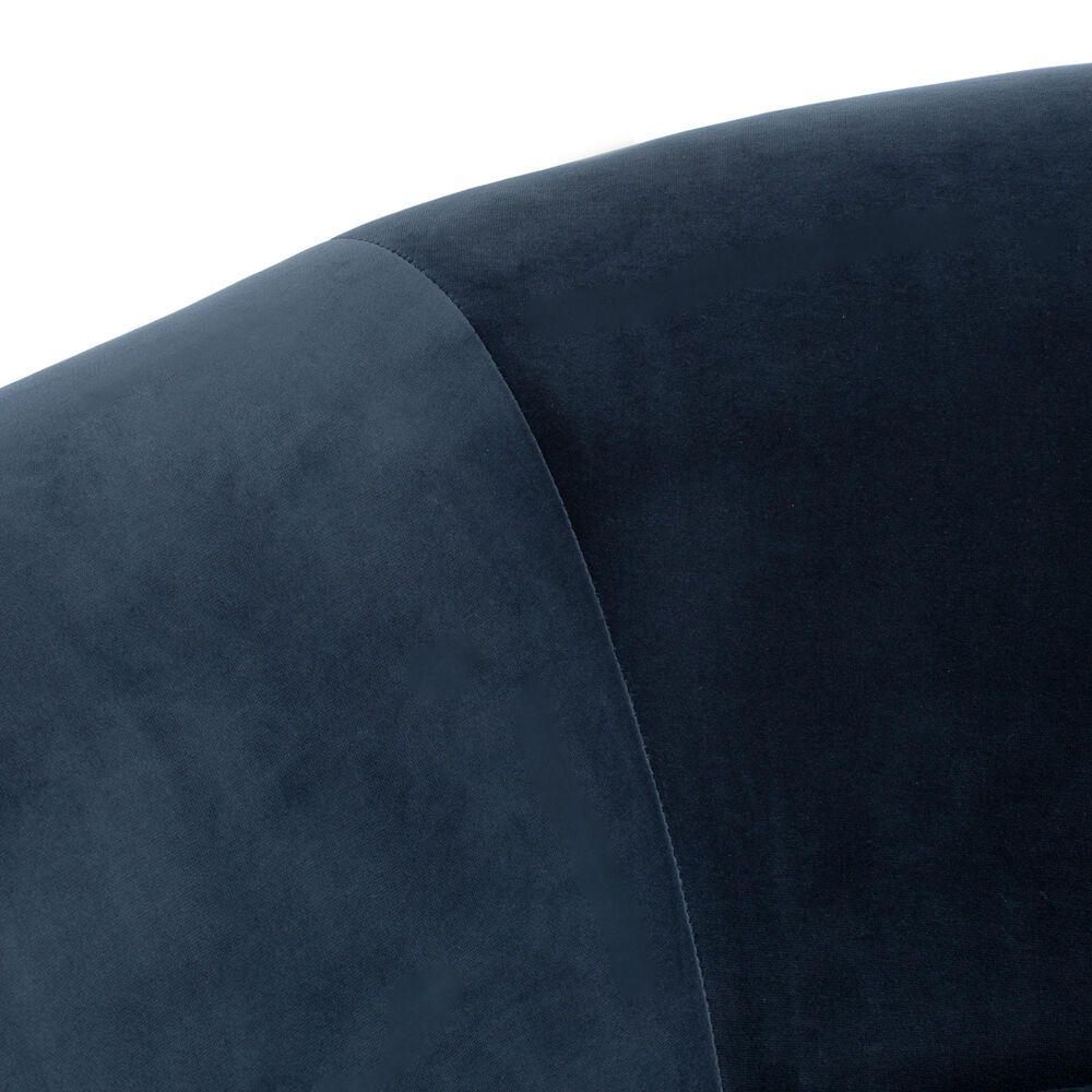 Safavieh Posie Sofa in Navy Velvet , , large