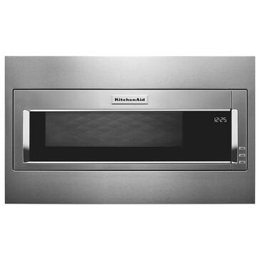 KitchenAid 1000 Watt Built-In Low Profile Microwave with Standard Trim Kit in Stainless Steel, , large