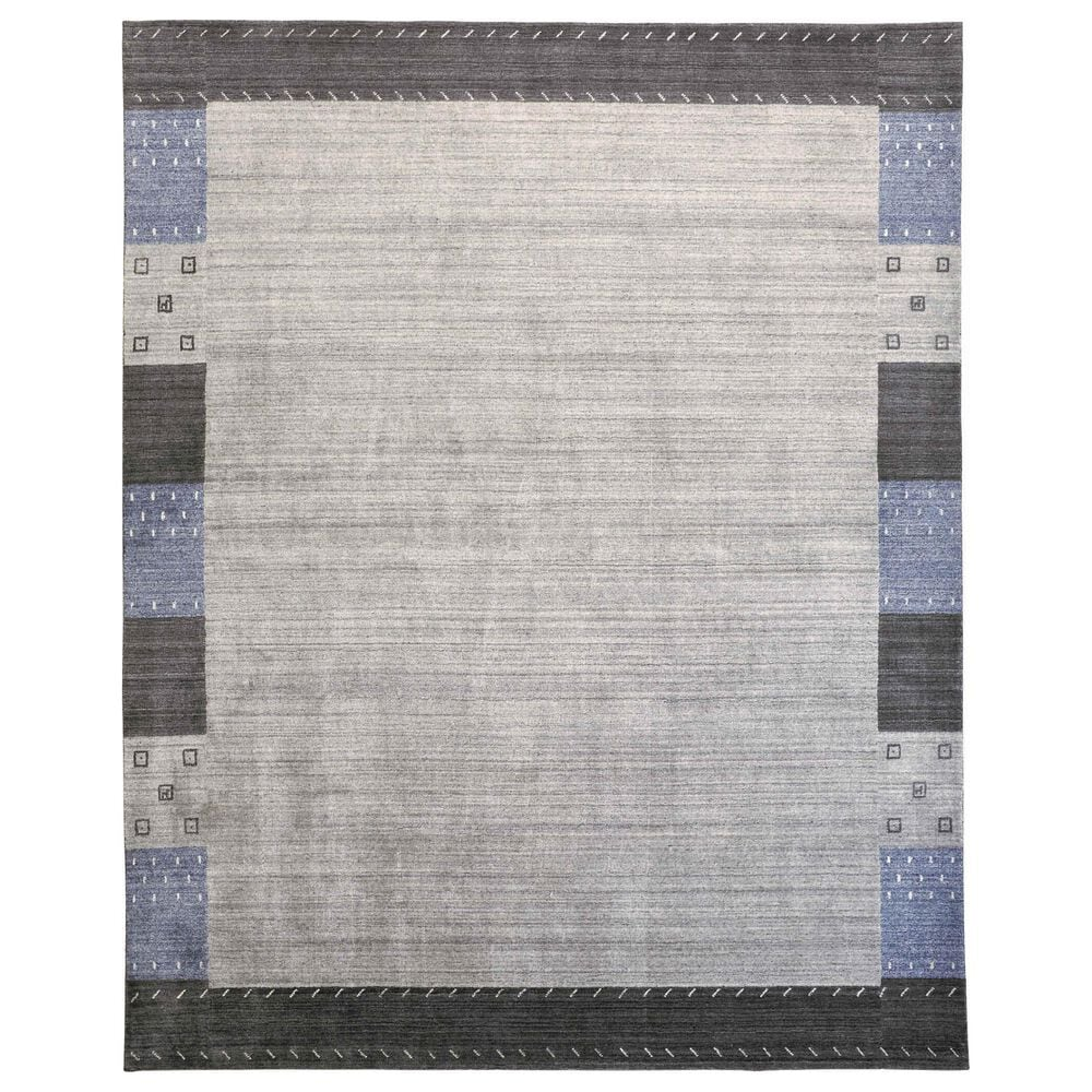 Feizy Rugs Legacy 2' x 3' Gray and Blue Area Rug, , large