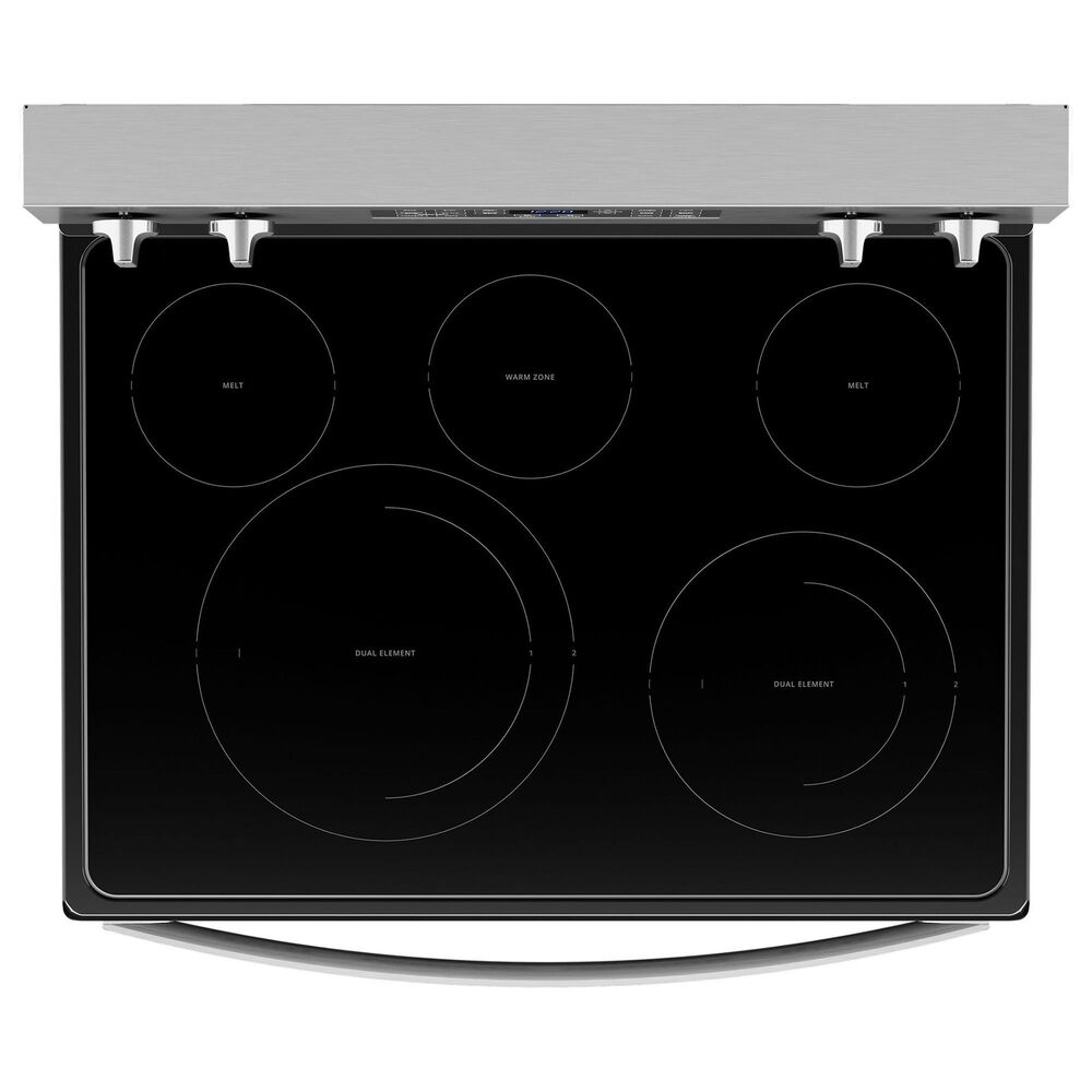 Whirlpool 2-Piece Kitchen Package with 5.3 Cu. Ft. Air Fry Electric Range and 2.1 Cu. Ft. Microwave in Stainless Steel, , large
