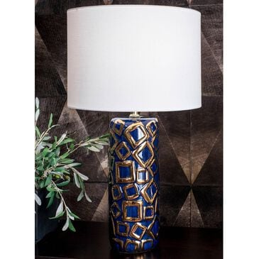 """nuLOOM Caroline 25"""" Table Lamp in Blue and Gold, , large"""