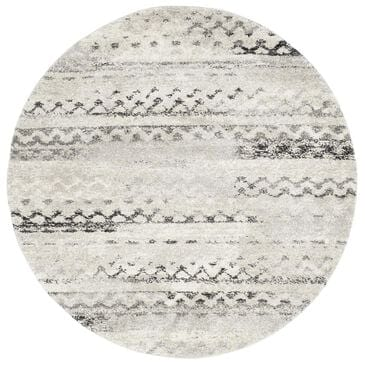Safavieh Retro RET2136-1180 6' Round Cream and Grey Area Rug, , large