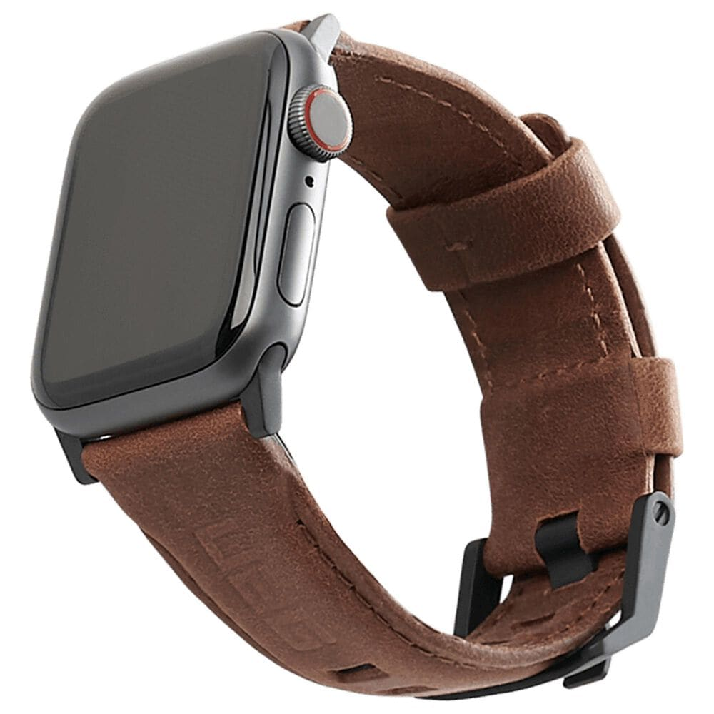 UAG Leather Watchband For Apple Watch 40mm / 38mm in Brown, , large