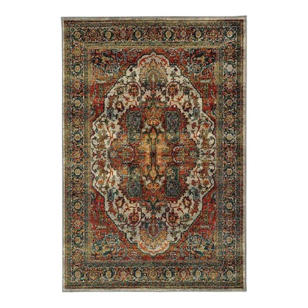 "Oriental Weavers Sedona 6382B 7'10"" x 10'10"" Red Area Rug, , large"