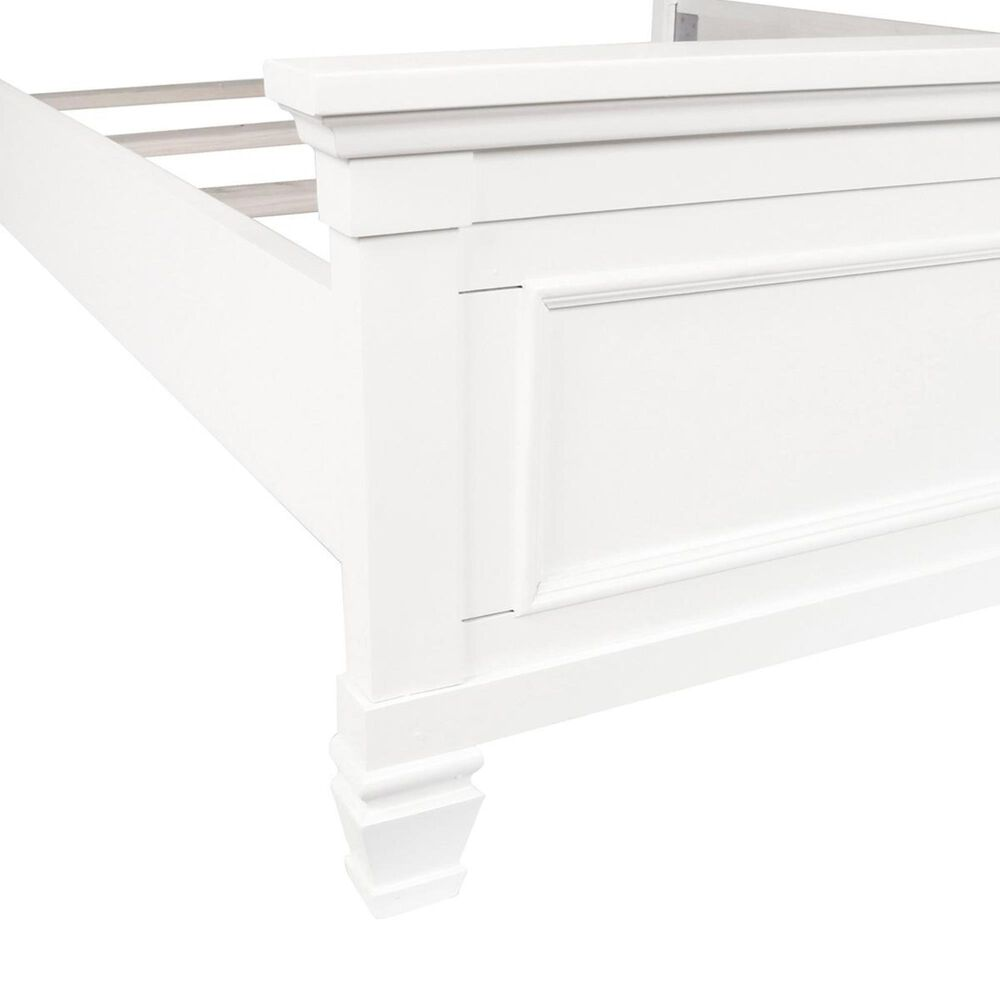 New Heritage Design Tamarack Full Panel Bed in White, , large