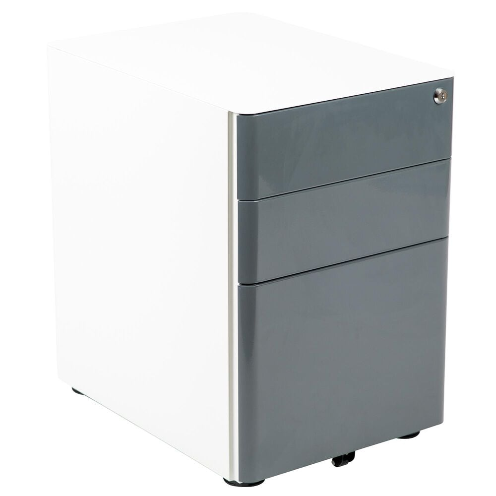 Flash Furniture 3-Drawer Mobile File in Gray, , large