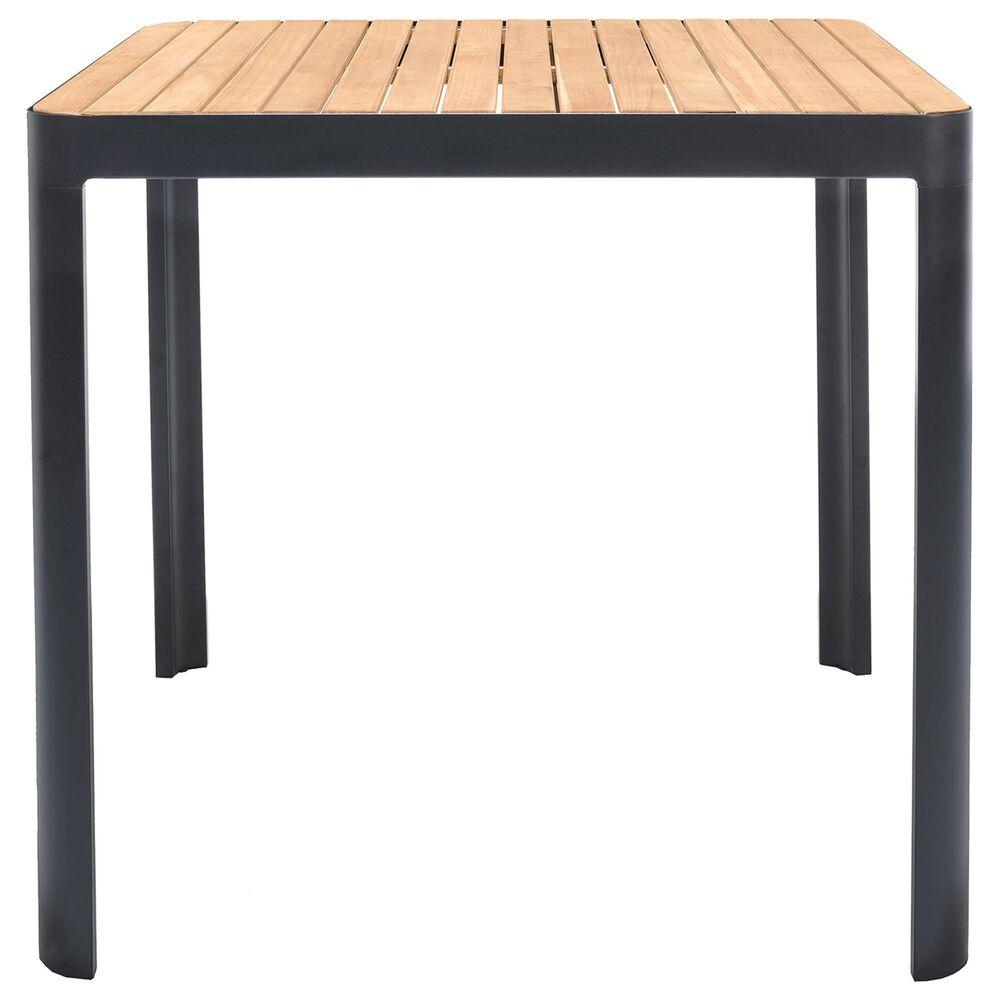 Blue River Portals Patio Bar Table in Black/Teak, , large