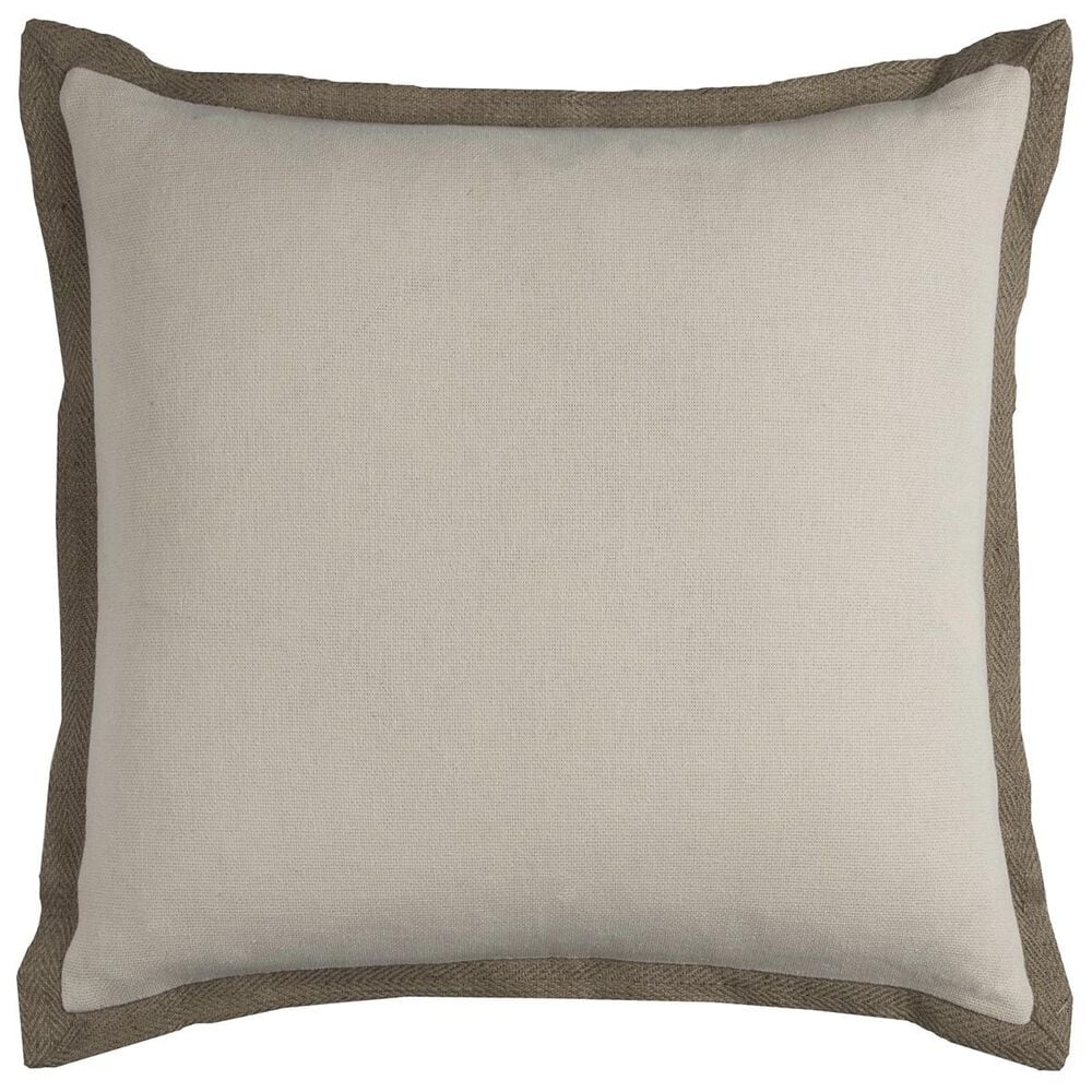 """Rizzy Home 22"""" x 22"""" Pillow Cover in Neutral, , large"""