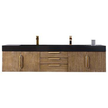 "James Martin Mercer Island 72"" Double Bathroom Vanity Cabinet in Latte Oak with Brushed Gold Hardware, , large"