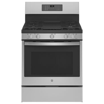 """GE Profile 30"""" Free-Standing Gas Range with Baking Drawer in Stainless Steel, , large"""