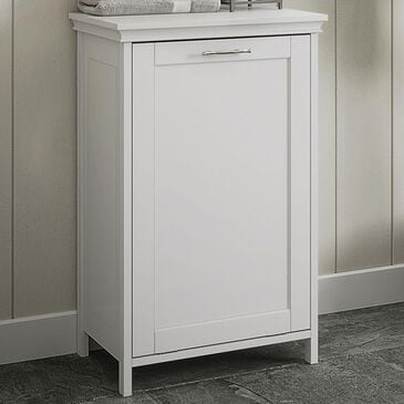 RiverRidge Home Somerset Tilt-Out Laundry Hamper in White, , large