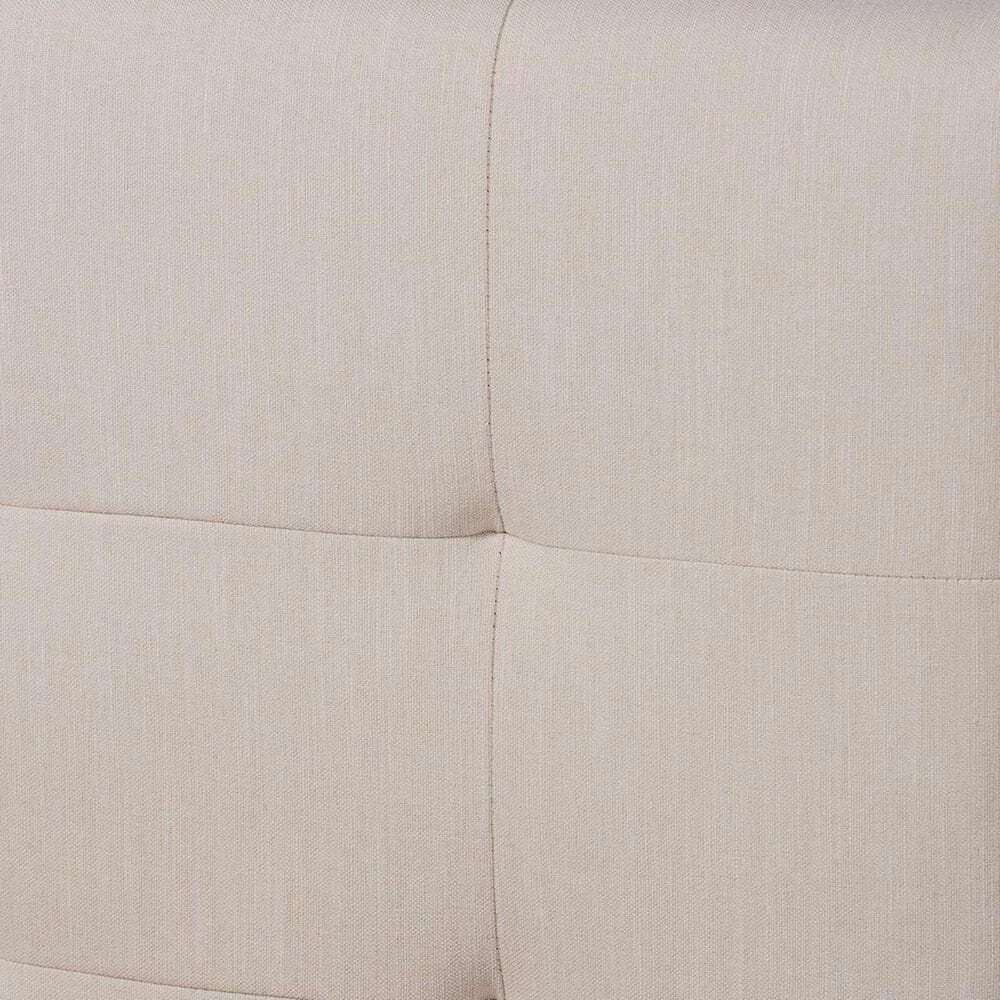Baxton Studio Maren 3 Piece Full Upholstered Platform Bed Set in Beige/Walnut, , large