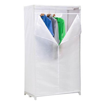 """Honey Can Do 36"""" Cloth Wardrobe in White, , large"""