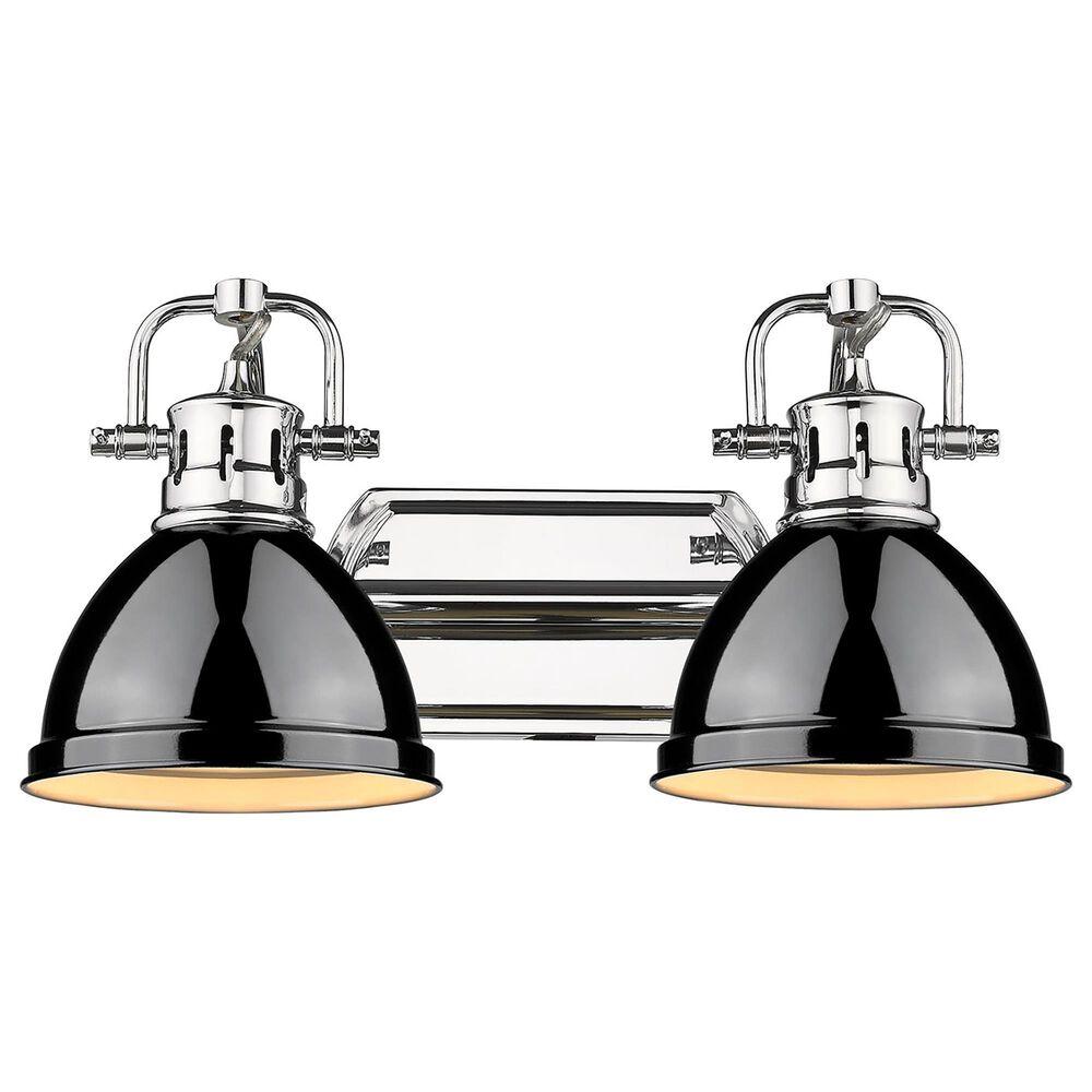 Golden Lighting Duncan 2-Light Bath Vanity in Chrome and Glossy Black, , large