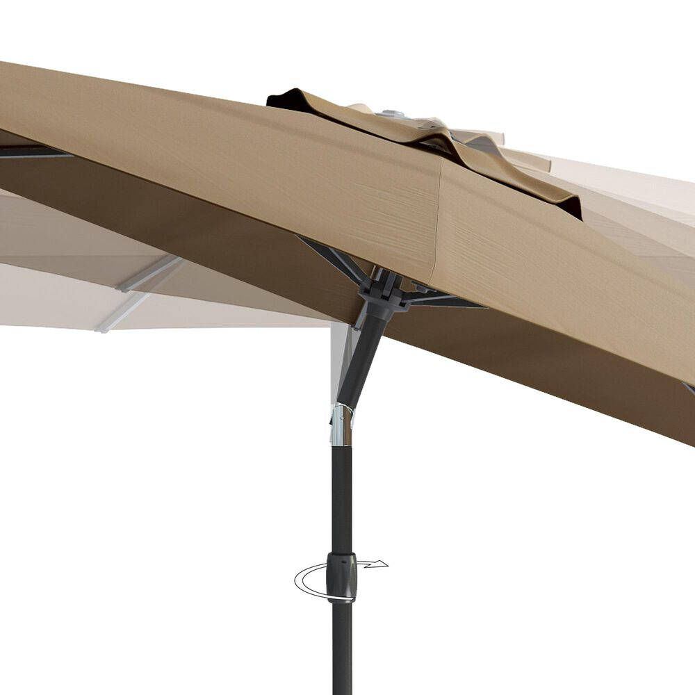 CorLiving 10' UV & Wind Resistant Patio Umbrella in Sandy Brown, , large