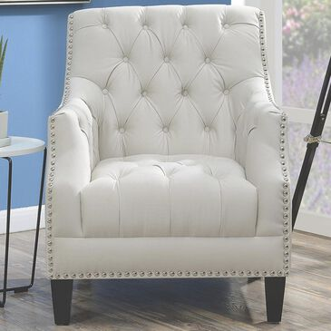 Mayberry Hill Norwalk Tufted Chair in Snow, , large