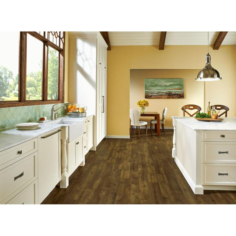 """Armstrong Rigidcore Farmhouse Plank Rugged Brown 7.25"""" x 48"""" Luxury Vinyl Tile, , large"""