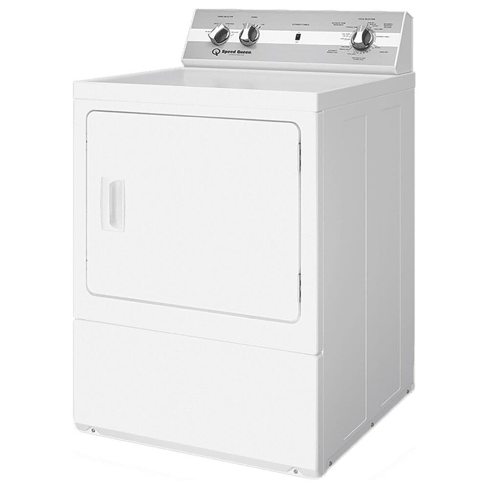 Speed Queen 7.0 Cu. Ft. Electric Dryer with Steam Cycle in White, , large