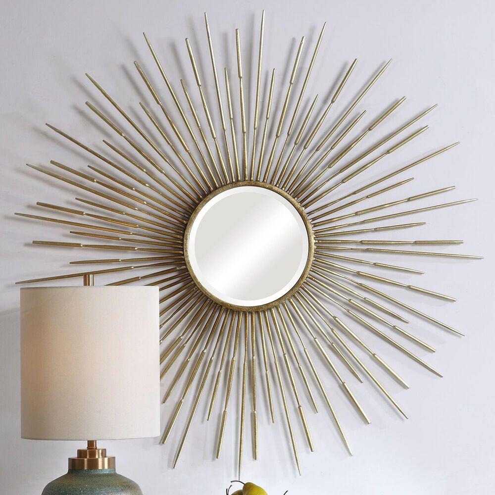 Uttermost Golden Rays Starburst Mirror, , large