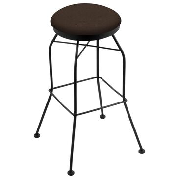 "Holland Bar Stool 3020 25"" Swivel Counter Stool with Black Wrinkle and Rein Coffee Seat, , large"