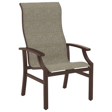 Tropitone Marconi High Back Dining Chair with Westlands Sling in Rich Earth, , large