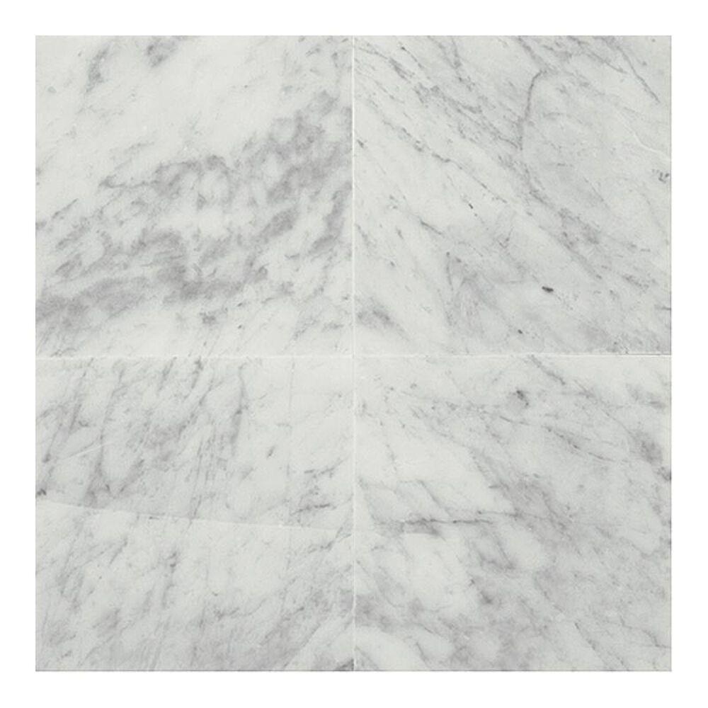 "Dal-Tile Marble Carrara White 12"" x 12"" Polished Natural Stone Tile, , large"
