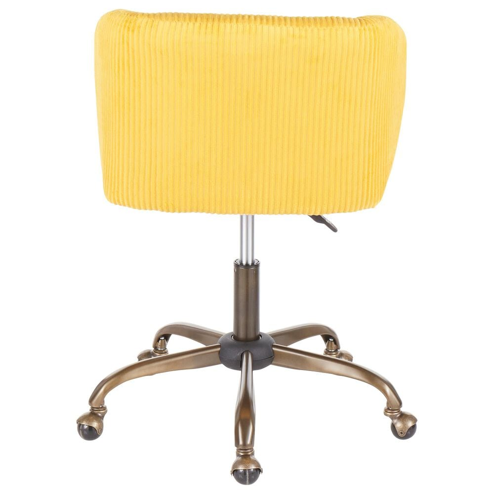 Lumisource Luna Task Chair in Yellow/Antique, , large