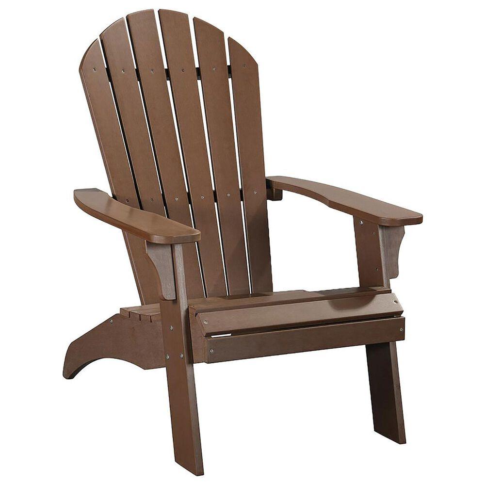 RedOak Creations King Size Adirondack Chair in Brown, , large