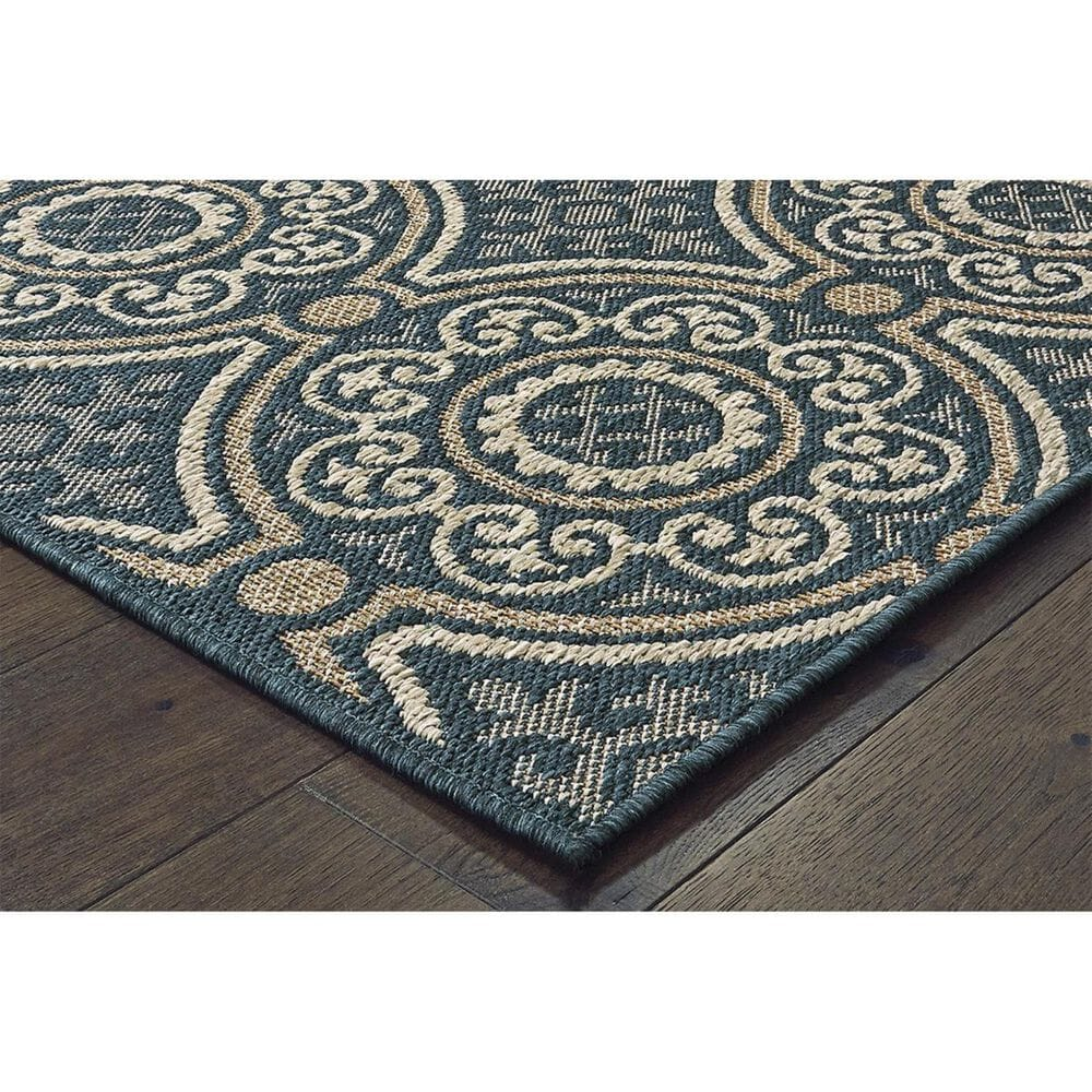 "Oriental Weavers Latitude 609B 3'3"" x 5' Blue Area Rug, , large"