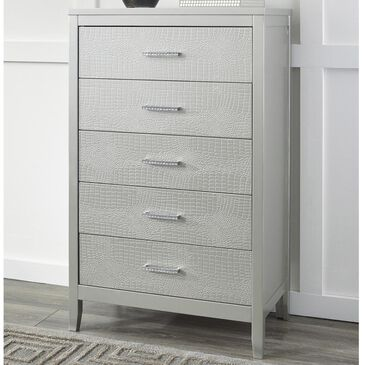 Signature Design by Ashley Olivet 5 Drawer Chest in Silver, , large