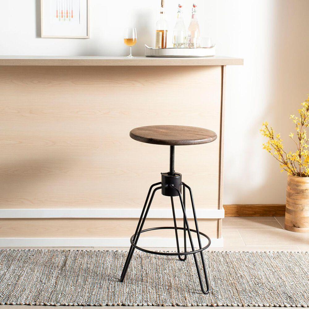 Safavieh Kai Adjustable Swivel Counter Stool in Natural Honey and Black, , large