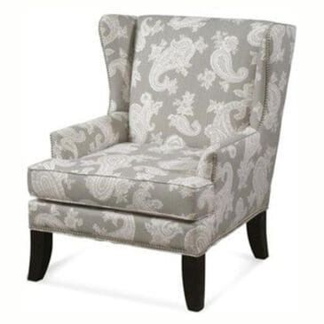 Tara Home Chelsea Large Wing Chair W/ Nails, , large