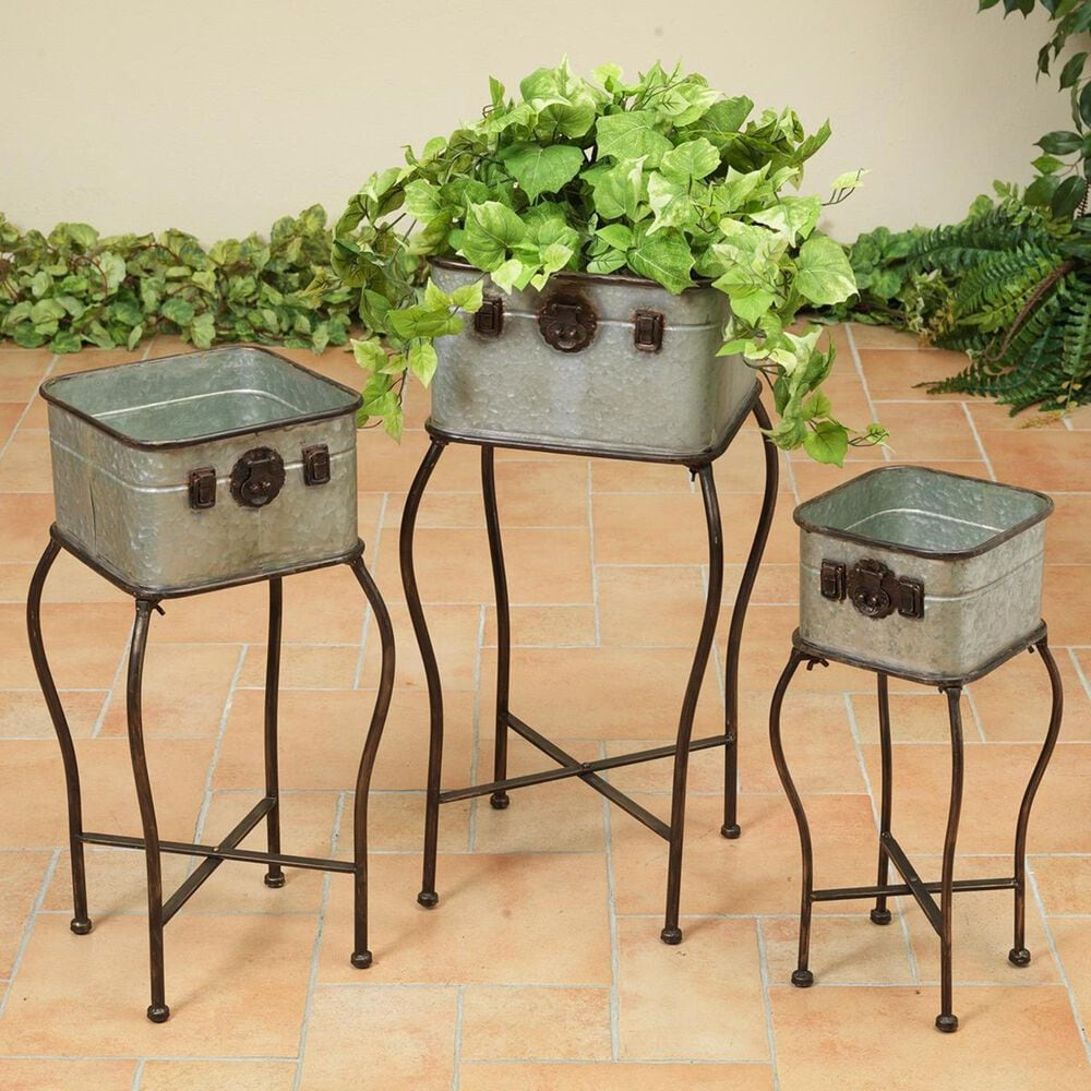 The Gerson Company 3-Piece Assorted Antique Planters, , large