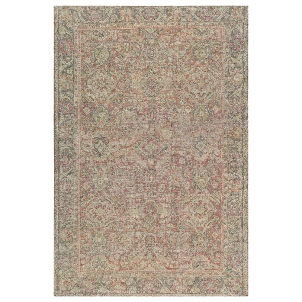 """Surya Unique UNQ-2303 5' x 7'6"""" Olive, Teal and Rust Area Rug, , large"""