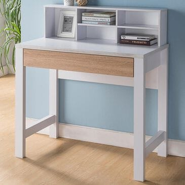 Global Movement Computer Desk in Weathered White, , large