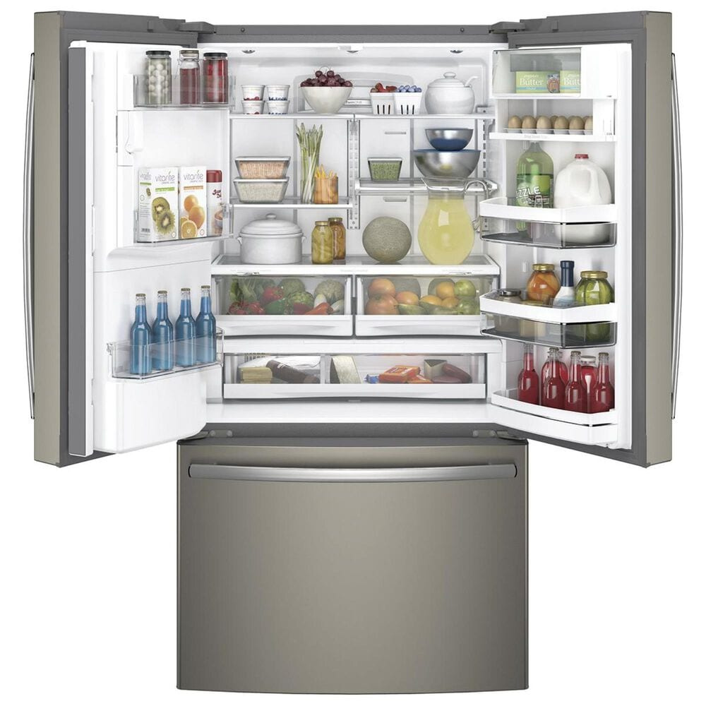 GE Profile 22.2 Cu. Ft. Counter-Depth French Door Refrigerator in Slate, , large