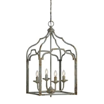 Southern Lighting Sullivan Chandelier in Rustic Grey and Brown, , large