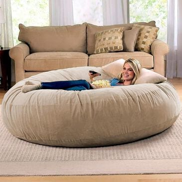 Jaxx 6' Cocoon Large Bean Bag Chair in Camel, , large